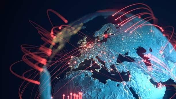 líneas de conexión globales ciberseguridad